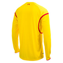 Liverpool Away Long Sleeve Jersey 2014/15, Yellow with Red