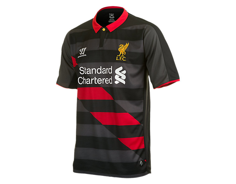 LFC 3rd Short Sleeve Jersey 2014/15, Black with High Risk Red