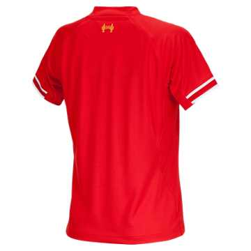 Liverpool Home Ladies Short Sleeve Jersey 2013/14, High Risk Red with White & Amber Yellow