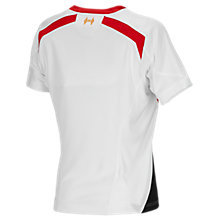 Liverpool Away Ladies Jersey 2013/14, White with Anthracite & High Risk Red