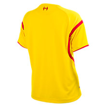 Liverpool Away Ladies Short Sleeve Jersey 2014/15, Yellow with Red