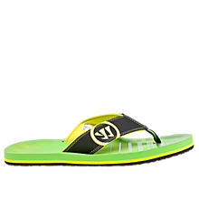 Riot Thong Sandal, Black with Green
