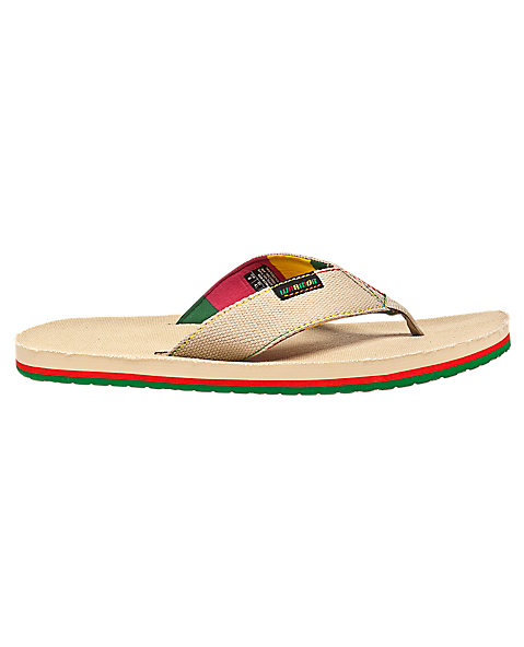 Swag Thong Sandal, Tan with Green