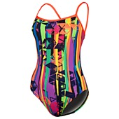 image: adidas Paintbrush Geo. Stitch-Back Swimsuit D74743