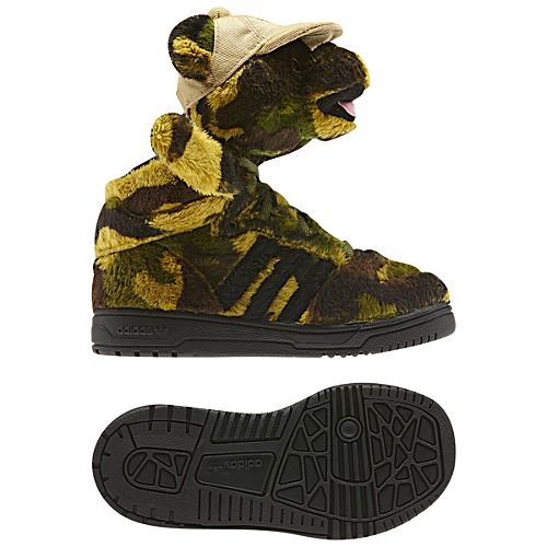image: adidas Jeremy Scott Camo Bear Shoes Q20918