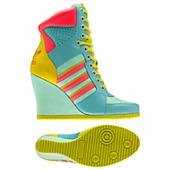 image: adidas Jeremy Scott Wedge Hi Shoes Q23023