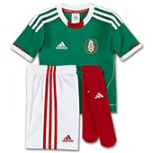 image: adidas Kids 4-7x Mexico Home Mini Kit V12645