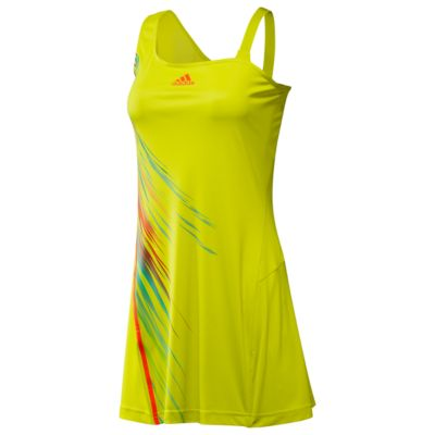 adidas - adizero Dress (Lab Lime/Infrared) - Apparel