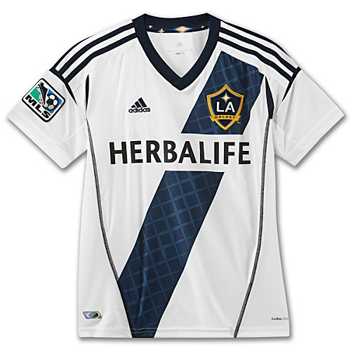 image: adidas Boys 8-20 LA Galaxy Replica Home Jersey X13609