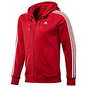 image: adidas Essentials 3-Stripes Full-Zip Hoodie X20757