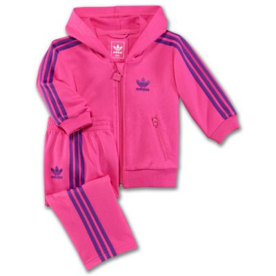 Infants & Toddlers Hooded Flock Track Suit