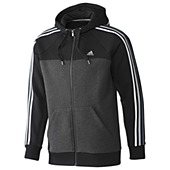 image: adidas Essentials 3-Stripes Full-Zip Hoodie Z22158