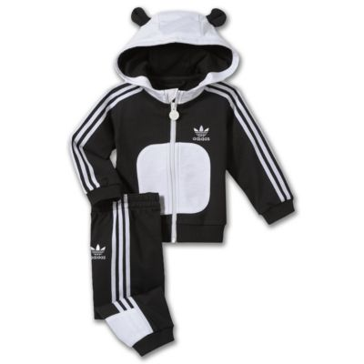 adidas Hooded Flock Panda Track Suit