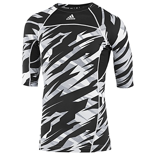 image: adidas Compression Short Sleeve Camo Tee Z33503