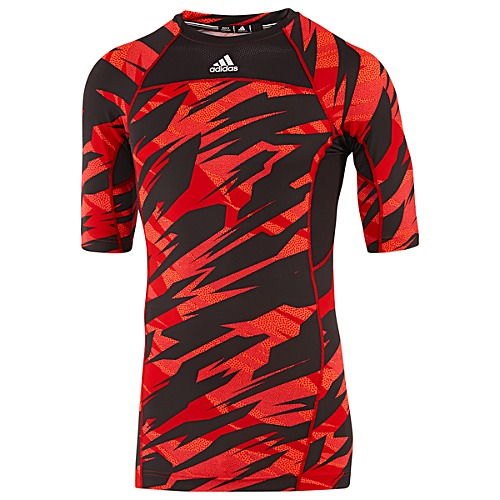 image: adidas Compression Short Sleeve Camo Tee Z33504