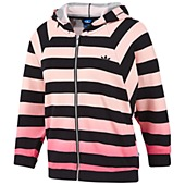 image: adidas Striped Cropped Hooded Track Top Z34846