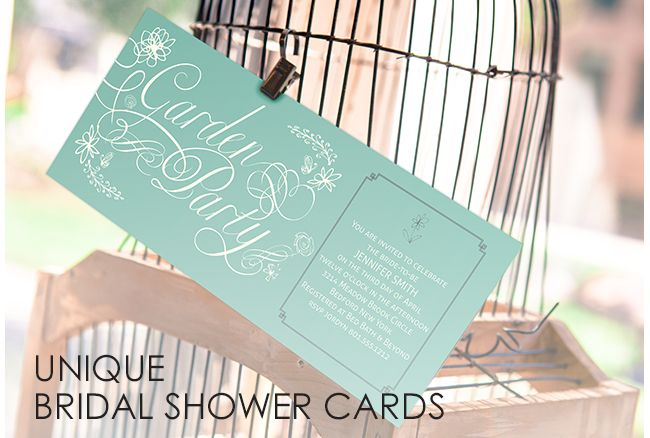 Custom Bridal Shower Cards