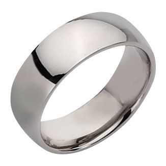Chisel Unisex Polsihed Stainless Steel Band 8mm 6
