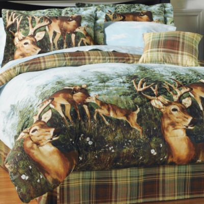 Camo Bedding Sets  College Beds on Set Lodge Bed Set Northcrest Timber Point 200 Thread Count Bed