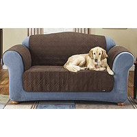 Sure Fit Quilt Suede Loveseat Pet Cover
