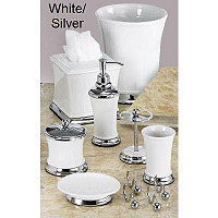 Phoenix 4 pc Acc. Set - White / Silver