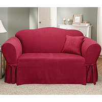 Sure Fit Classic Soft Suede Loveseat Slipcover