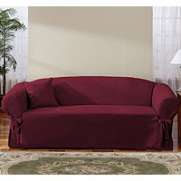 Sure Fit Classic Soft Suede Sofa Slipcover