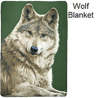 Fleece Blanket - Curious Wolf