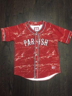 Parish Nation Men s Big/Tall Print Baseball Jersey Red4X
