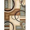 Well Woven Modern Geometric Arcs and Shapes 8x10 Rug