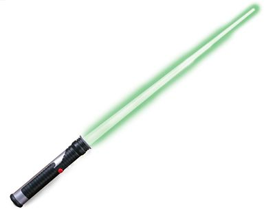 Star Wars Jedi Master Green Lightsaber Green, One Size Fits Most