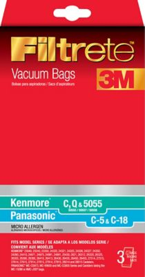3M Filtrete Micro Allergen 3-Pack Vacuum Bags for Kenmore and Panasonic Canister Vacuums photo