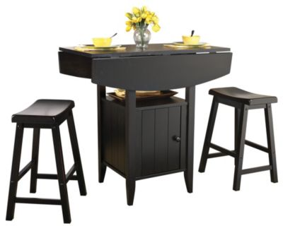 3 Pc. Dover Dining Set Blk $ 249.99