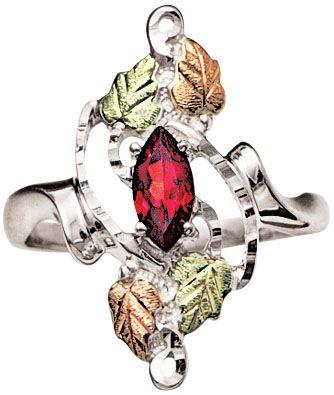 Coleman Black Hills Gold & Silver Garnet Ring