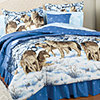 Midnight Wolves Twin Comforter Set