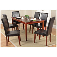 "63"" Dining Table + Chairs Cinnamon"