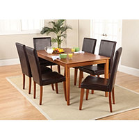 "63"" Dining Table + Chairs Oak"