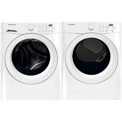 Frigidaire 3.9 Cu. Ft. Front Load Washer and 7.0 Cu. Ft. Front Load Gas Dryer - White photo