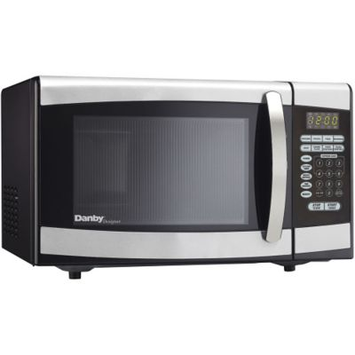 Danby Designer 900-Watt 0.9 Cu. Ft. Microwave Oven - Stainless Steel photo