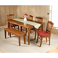 6 Pc Walnut Dining Set Shaker