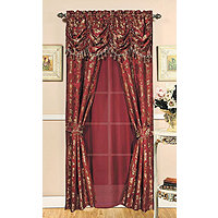 "4 Premivera 58x84"" Window In A Bag Burgundy"