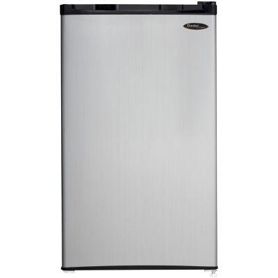 Danby Energy Star 3.2 Cu. Ft. Compact Refrigerator/Freezer, Black with Spotless Steel Door photo