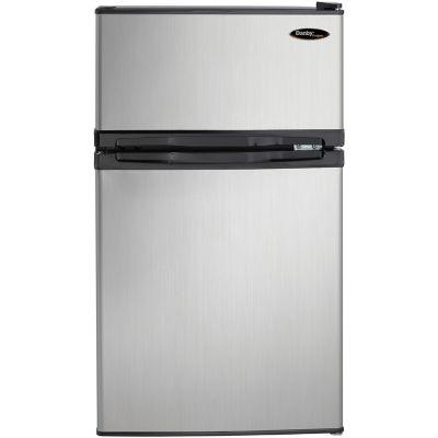 Danby Designer Energy Star 3.1 Cu. Ft. Compact Dual-Door Refrigerator/Freezer, Black with Spotless S photo