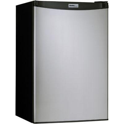 Danby Designer Energy Star 4.4 Cu. Ft. Compact Refrigerator/Freezer, Black with Spotless Steel Door photo