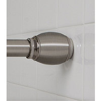 EZ Up Barrel Shower Rod - Brushed Nickel