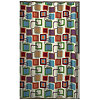 Squares Fabric Shower Curtain