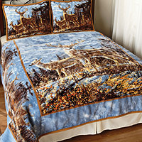 Save 45% Autumn Whitetails Twin/Full Coverlet Set