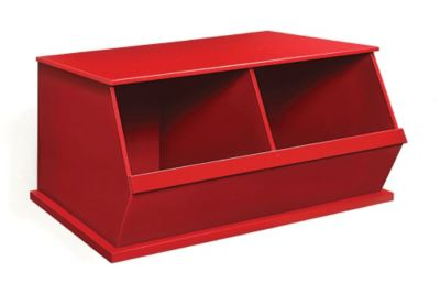 Two Bin Storage Cubby Red $ 89.99