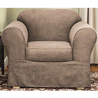 Sure Fit Soft Suede Supreme 2 pc Chair Slipcover