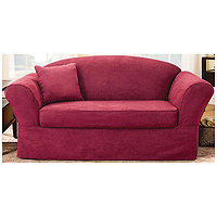Sure Fit Soft Suede Supreme 2p Loveseat Slipcover
